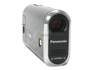 "Panasonic SDR S10 Black 2.7""LCD 10X Variable Speed Optical Zoom Water Resistant SD Palmcorder Camcorder"