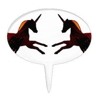 Winged Unicorn Pegasus Flying Horse Mystical Cake Picks