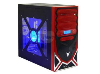 ASYS X 60 Robot Black/ Red Steel ATX Mid Tower Computer Case 500W Power Supply