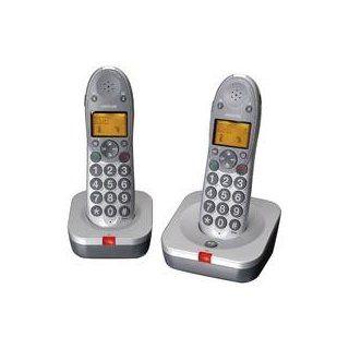 Audioline Big Tel 102 Duo Eco Schnurlostelefon silber Elektronik