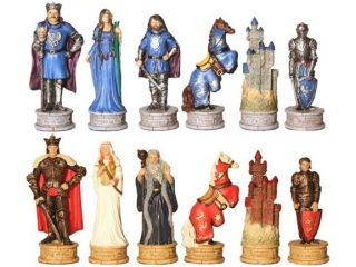 King Arthur Medieval Chess Set Pieces