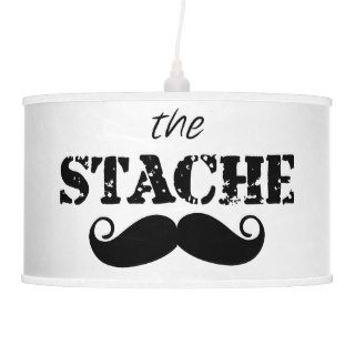 The Stache Mustache Retro Hipster Pendant Lamp