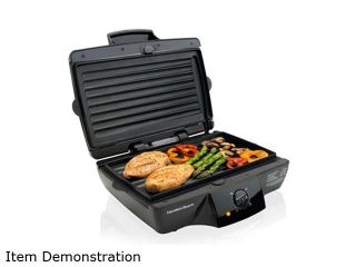 Hamilton Beach Indoor Grill with Removable Grids   Extra Large 25325 Black