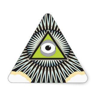 Illuminati All Seeing Eye NWO New World Order Triangle Stickers