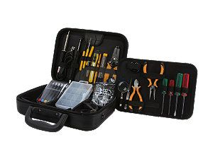 Syba SY ACC65054 41 Piece Professional Workstation Repair Tool Kit, PU Roomy Zipped Case, RoHS