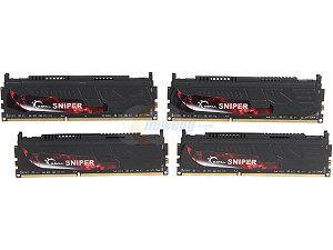 G.SKILL Sniper Series 32GB (4 x 8GB) 240 Pin DDR3 SDRAM DDR3 2133 (PC3 17000) Desktop Memory Model F3 2133C10Q 32GSR