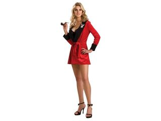 Hugh Hefner Sexy Playboy Girlfriend Red Smoking Jacket Dress Costume Adult