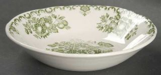 Masons Fruit Basket Green Fruit/Dessert (Sauce) Bowl, Fine China Dinnerware   G