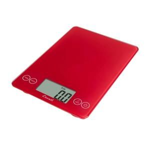 Escali Arti Glass Digital Food Scale in Retro Red 157RR