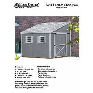 Tool Shed plans, Lean To Roof Style Shed Plans, 6 x 8 Plans Design